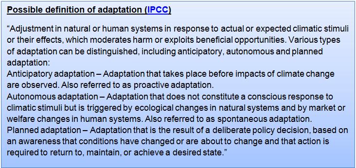 GCF IPCC Definition